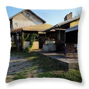 Restaurant On The Outskirts  Throw Pillow