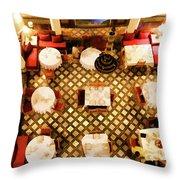 Restaurant Palais Des Merinides Fes Morocco Paint  Throw Pillow