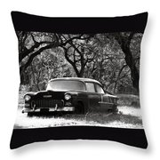 Resting Amongst The Oaks Throw Pillow