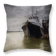 Resting At The Dock Throw Pillow
