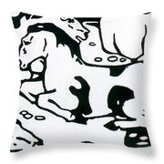 Resting Horses 1912 Throw Pillow
