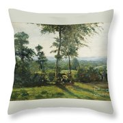 Resting In The Countryside Throw Pillow