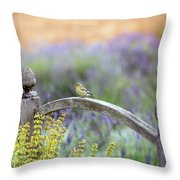 Resting In The Garden Throw Pillow