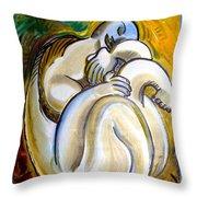 Resting Man Throw Pillow