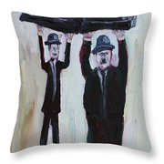 Resting On Your Laurels And Hardy Throw Pillow