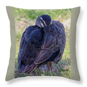 Resting Standing Up Throw Pillow