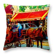 Resto La Grande Terrasse Throw Pillow