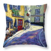 Resto Le Cochon Dingue  In Old Quebec Throw Pillow