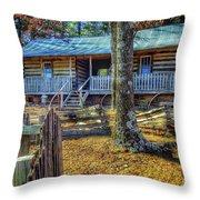 Restored Log Cabin Throw Pillow