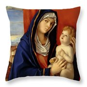 Restored Old Master Madonna And Child  Throw Pillow