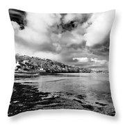 Restronguet Weir In Monochrome Throw Pillow