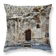 Resurrection - Garden Tomb Throw Pillow