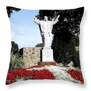 Resurrection Of Jesus Statue Throw Pillow by Rose Santuci-Sofranko