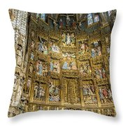 Retable - Toledo Cathedral - Toledo Spain Throw Pillow