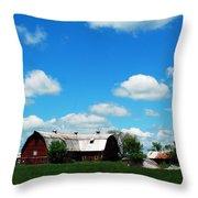 Retired Barn Throw Pillow