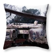 Retired Navy Throw Pillow