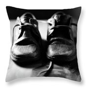 Retired Old Shoes Throw Pillow