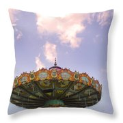Retired Ride In The Sky Or Ufo Throw Pillow