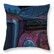 Retired Rusty Mack IIi Throw Pillow