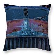 Retired Rusty Mack Iv Throw Pillow