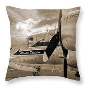 Retired - Sepia Throw Pillow