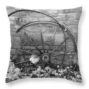 Retired Wheel Throw Pillow