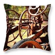 Retired Wheels Throw Pillow