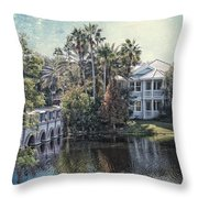 Retirement On The River 01 Textured Throw Pillow