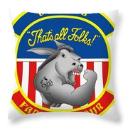 Retirement Patch Throw Pillow