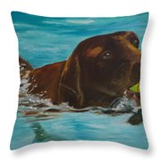 Retriever Play Throw Pillow