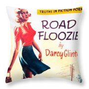 Retro 1950s Book Cover Floozie Bimbo Old School Nympho Throw Pillow