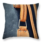 Retro Background Old Suitcase Handle Throw Pillow