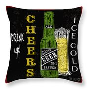 Retro Beer Sign-jp2915 Throw Pillow