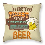 Retro Beer Sign-jp2917 Throw Pillow