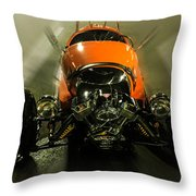 Retro Car In Orange Throw Pillow