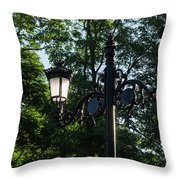 Retro Chic Streetlamps - Old World Charm With A Modern Twist Throw Pillow