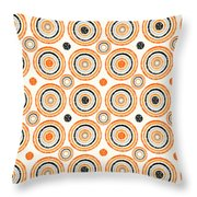 Retro Circles Pattern Throw Pillow