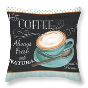 Retro Coffee 1 Throw Pillow by Debbie DeWitt