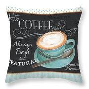 Retro Coffee 1 Throw Pillow
