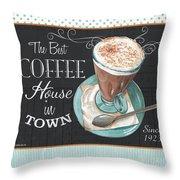Retro Coffee 2 Throw Pillow by Debbie DeWitt