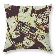 Retro Computer Games Throw Pillow