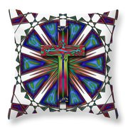 Retro Cross Throw Pillow