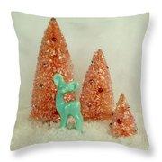 Retro Deer  Throw Pillow