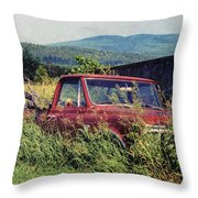 Retro Ford Throw Pillow