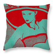 Retro Glam Throw Pillow