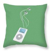 Retro Ipod Throw Pillow