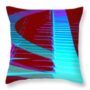 Retro Keys Throw Pillow