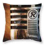 Retro Microphone Throw Pillow by Scott Norris