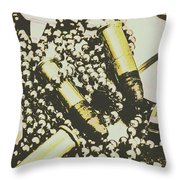 Retro Military Poster Art Throw Pillow