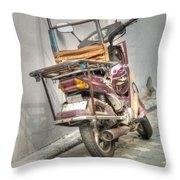 Retro Moped #2 Throw Pillow